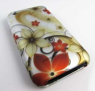 FALL FLOWERS HARD CASE APPLE IPHONE 3G 3GS S ACCESSORY