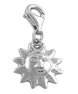 Sterling Silver Sun Face Charm