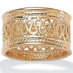 Collection 14k Gold plated Open weave Band Ring  Overstock