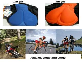 functional padded under inner shorts for cycling bike