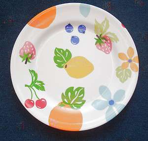 melamine dinner plate fruit & hippie flower power 11 serving