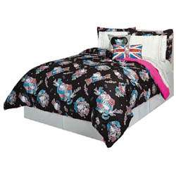 Hello Kitty Tattoo Mini Comforter Set