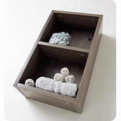 Fresca Grey Oak Open Storage Bathroom Linen Cabinet