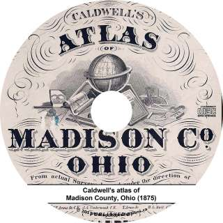 of Madison County, Ohio   OH History Genealogy Biography Maps Book CD