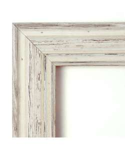 Large Country Whitewash Wall Mirror