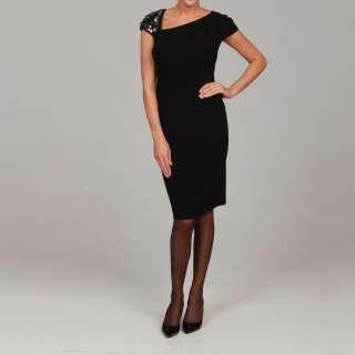 Evan Picone Womens Embellished Shoulder Dress  Overstock