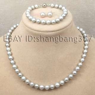 white black pink Freshwater AA Pearl Necklace bracelets earrings S49