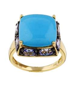 Encore by Le Vian 14k Gold Turquoise and Tanzanite Ring