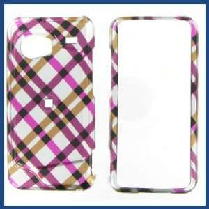 HTC Droid Incredible Hot Pink Plaid Protective Case
