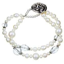 Charming Life Sterling Silver Pearl Mermaid Bracelet (4 8.5 mm