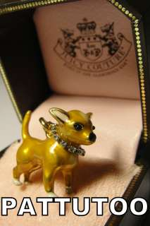 COUTURE CHIHUAHUA PET DOG COLLAR GOLD BRACELET CHARM + TAGGED BOX
