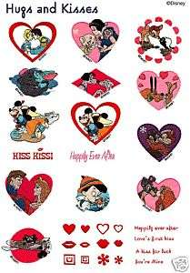 Brother Disney Hugs & Kisses Embroidery Memory Card New