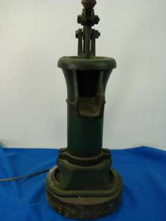 Antique Cast Iron Water Pump Spout Well Water Lamp Light WORKS