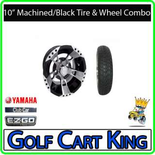 RX190 Low Profile Golf Cart 10 Wheel and Tire Combo