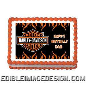 Edible Cake Images Harley Davidson : Harley Davidson Party Supplies on PopScreen