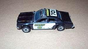 HOTWHEELs 123 police car 1977 black wheels nice hot wheels