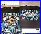 Laconia Beach Motorcycle Biker Chopper Short Sleeve Men Man Shirt