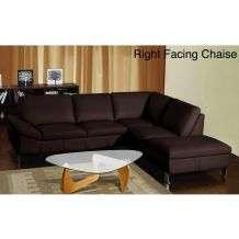 Chelsea Modern Dark Brown Bonded Leather Sectional Sofa