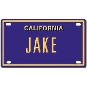Jake Mini Personalized California License Plate
