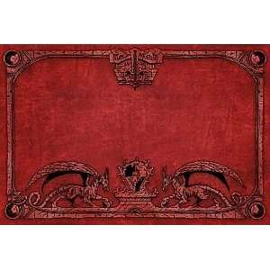 Dragon Shield Arcane Dragons Red Playmat Toys & Games