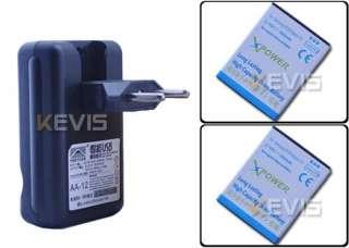 1800mAh battery + EU Wall USB Charger For Samsung Galaxy S II S2 i9100