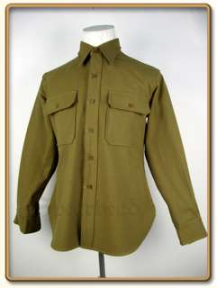 WW2 US Army EMs Mustard Wool Shirt S