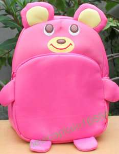 NWT BABY TODDLER GIRLS SCHOOLBAG BACKPACK PINK BEAR