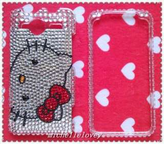 HELLO KITTY RHINESTONE BLING FULL COVER CASE FOR HTC EVO Shift 4G ES3