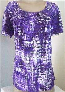 New Essentials Womens Plus Size Clothing 0X 1X 2X 3X 4X Purple Shirt