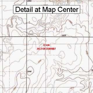 USGS Topographic Quadrangle Map   Erick, Oklahoma (Folded/Waterproof)