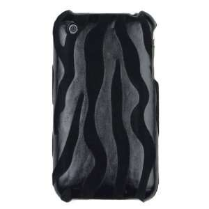 Zebra Hard Case for iPhone 3G / 3GS   Black  Players & Accessories