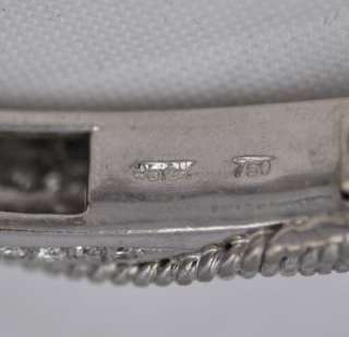 Estate 3.00 ctw 18k White Gold Diamond Link Bracelet