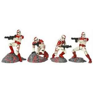 Star Wars Unleashed Battle 4 Pack Shock Trooper Pack Toys & Games
