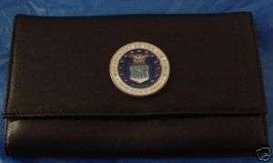 Ladies Leather Clutch Wallet U.S.Air Force