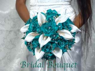 BEAUTIFUL Bouquet Wedding Bouquets Silk Bridal Bridesmaid Flowers Love