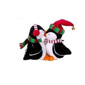 Kurt Adler 6 inch Animated Valentine Kissing Penguins doll