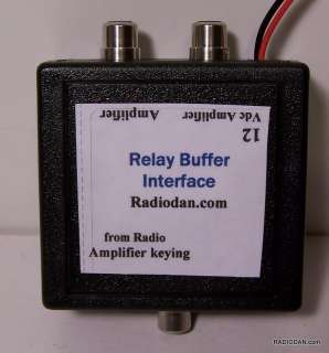Amplifier keying relay buffer interface for TWO linear amp switching