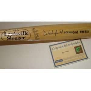 Dave Winfield Signed Baseball Bat   L SLUGGER GAME MODEL