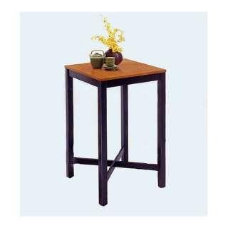 Home Styles Black Pub Table with Oak Veneer Top Furniture