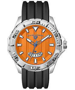 Swiss Legend Mens Orange Dial Quartz Watch  Overstock