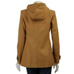 MICHAEL Michael Kors Womens Hooded Toggle Button Coat