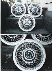 MERCURY COUGAR 14 WIRE WHEEL COVERS 1980s