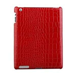 iPad 2 Crocodile Pattern Leather Case RED  Players