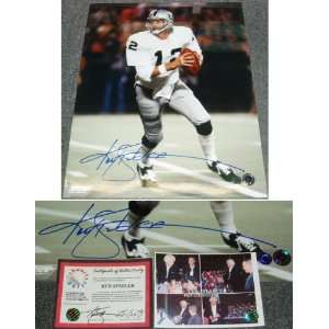 Ken Stabler Signed Raiders Night Game Action 16x20