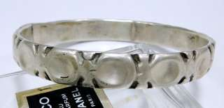 vintage antique ethnic tribal old silver bangle bracelet cuff