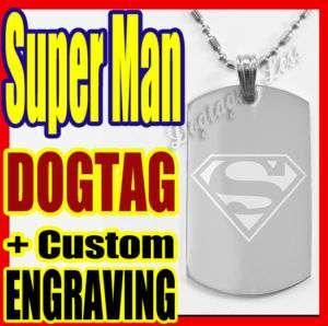 Superman ★ Bloody Super Man ★Custom Dog Tag Necklace★