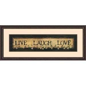 Live Laugh Love by Lisa Hilliker   Framed Artwork
