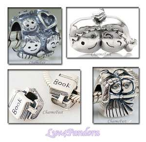 925 Sterling Silver European Bead Charm Home Family 5