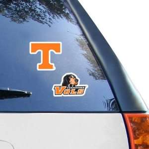 NCAA Tennessee Volunteers 2 Pack 4 x 4 Die Cut Decals