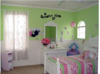Butterfly Kisses Girl Room Wall Sticker Lettering Decal